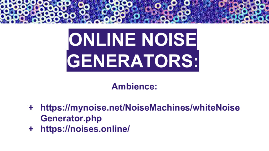 ONLINE NOISE GENERATORS: Ambience: + https://my...