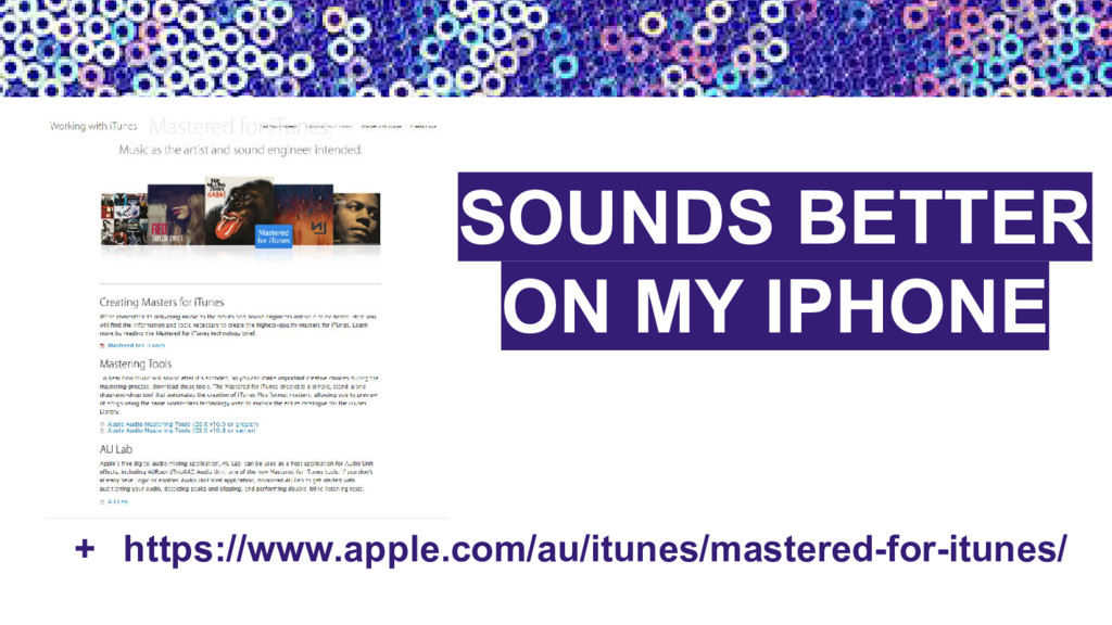 + https://www.apple.com/au/itunes/mastered-for-...