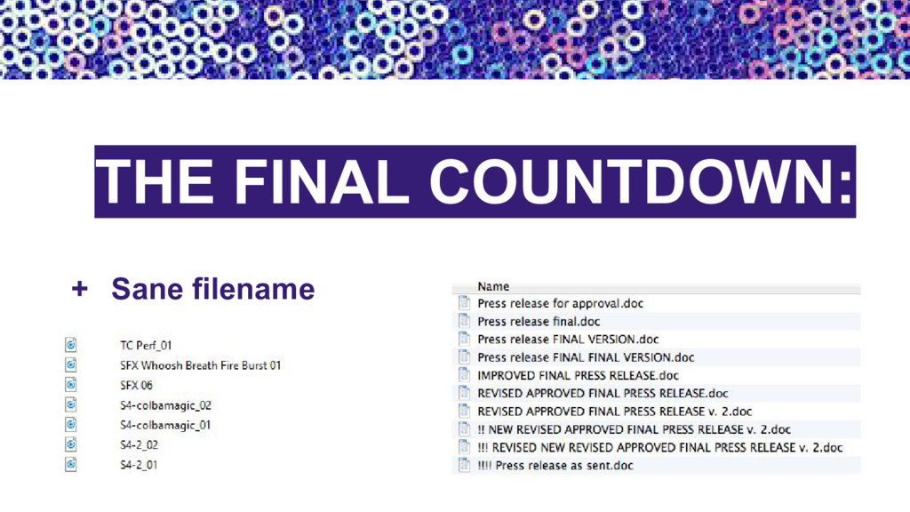 + Sane filename THE FINAL COUNTDOWN: