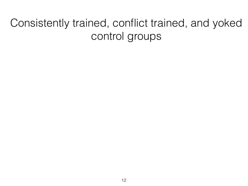 Consistently trained, conflict trained, and yoke...