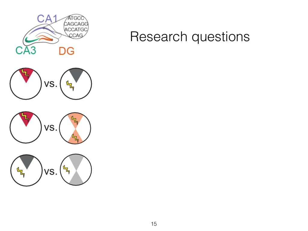 Research questions 15 vs. vs. vs. vs. vs. vs. v...