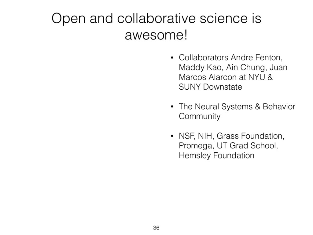 Open and collaborative science is awesome! • Co...