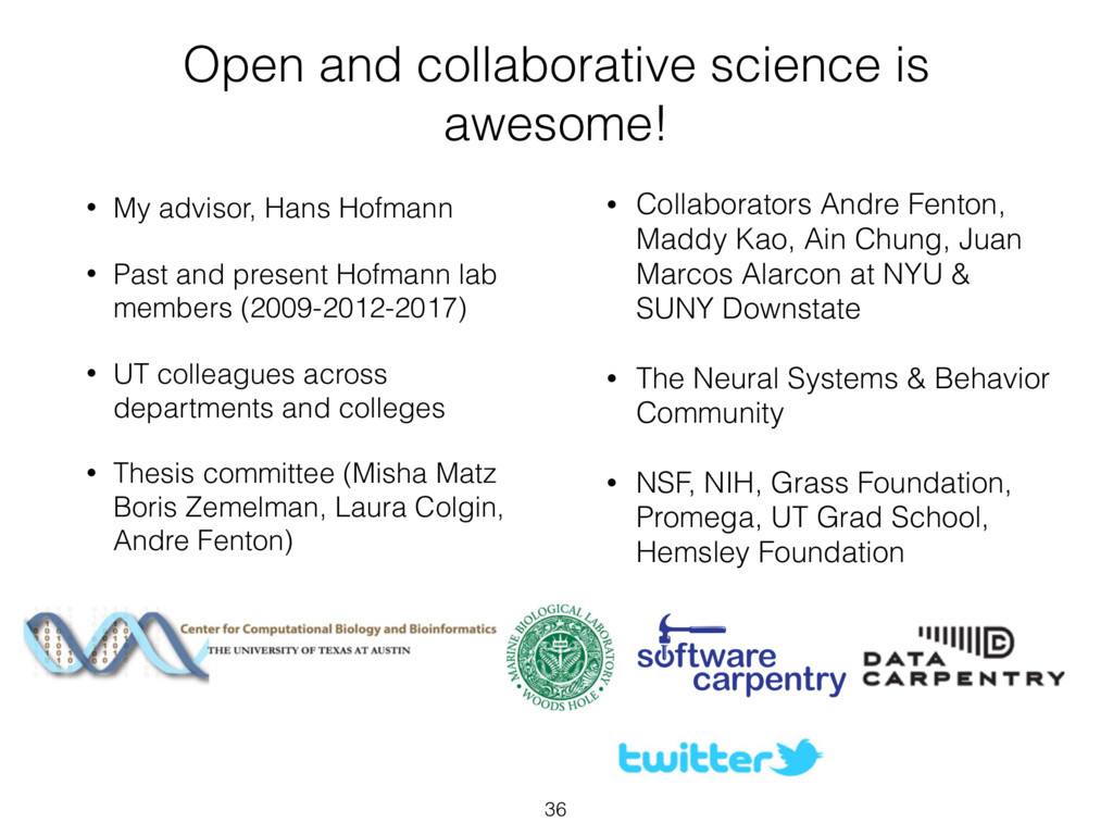 Open and collaborative science is awesome! • My...