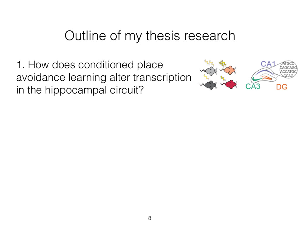 Outline of my thesis research 1. How does condi...