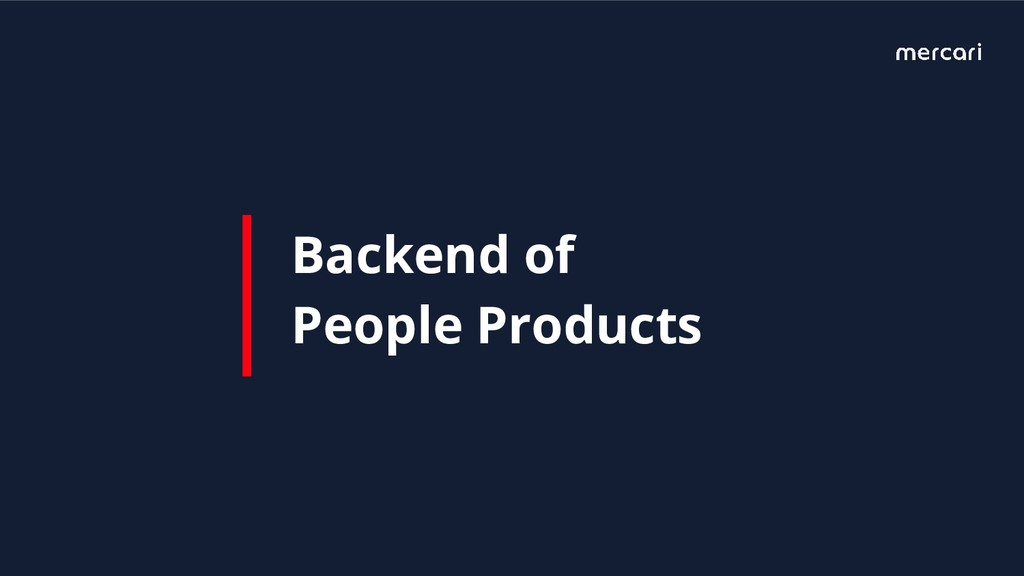 Backend of People Products