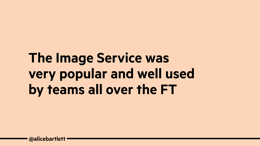@alicebartlett The Image Service was very popul...