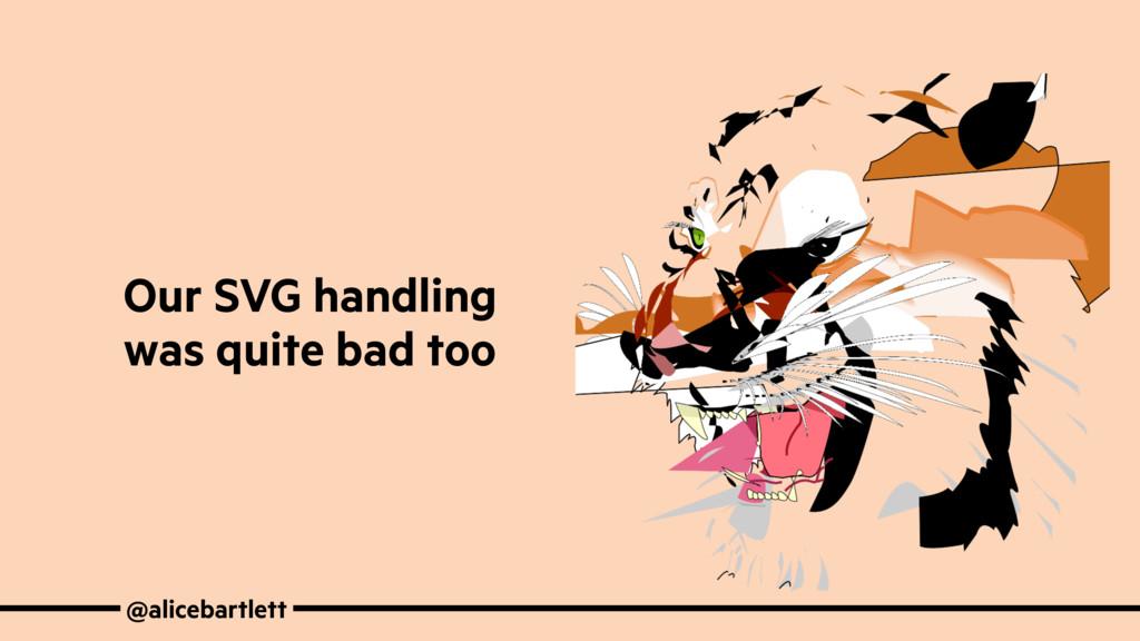 @alicebartlett Our SVG handling was quite bad t...