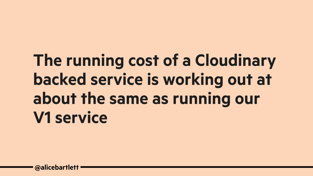 The running cost of a Cloudinary backed service...