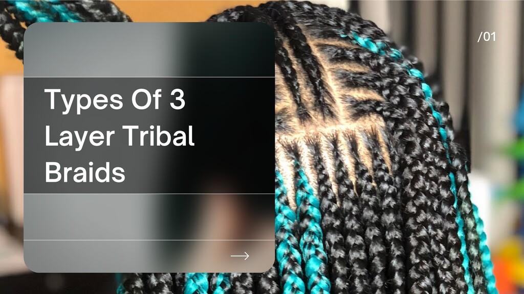 Types Of 3 Layer Tribal Braids