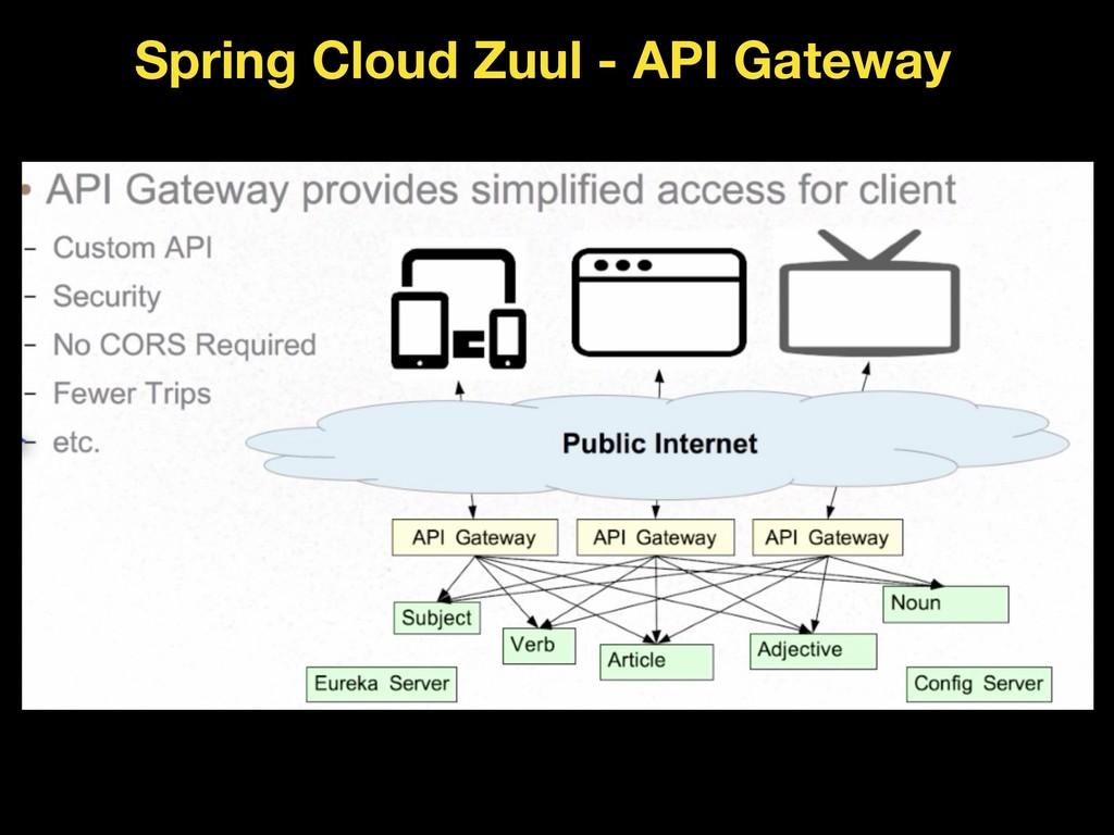 Spring Cloud Zuul - API Gateway