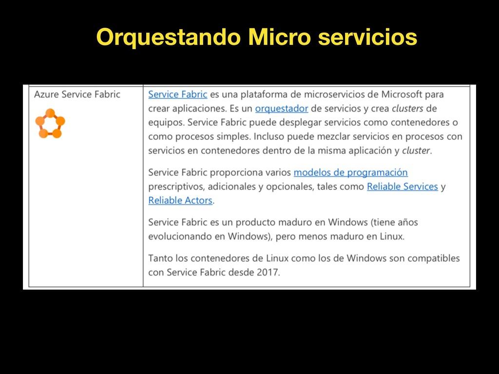 Orquestando Micro servicios
