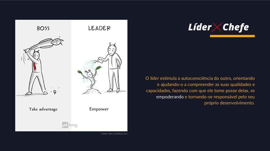 O líder estimula a autoconsciência do outro, or...