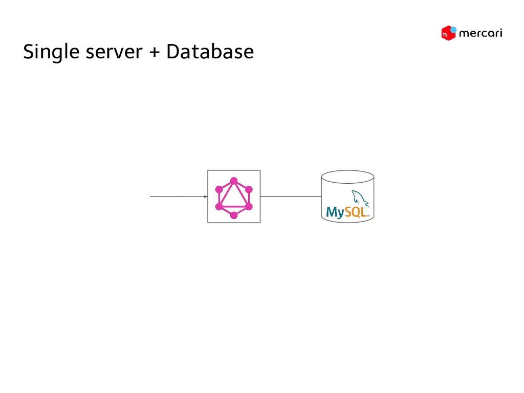 Single server + Database