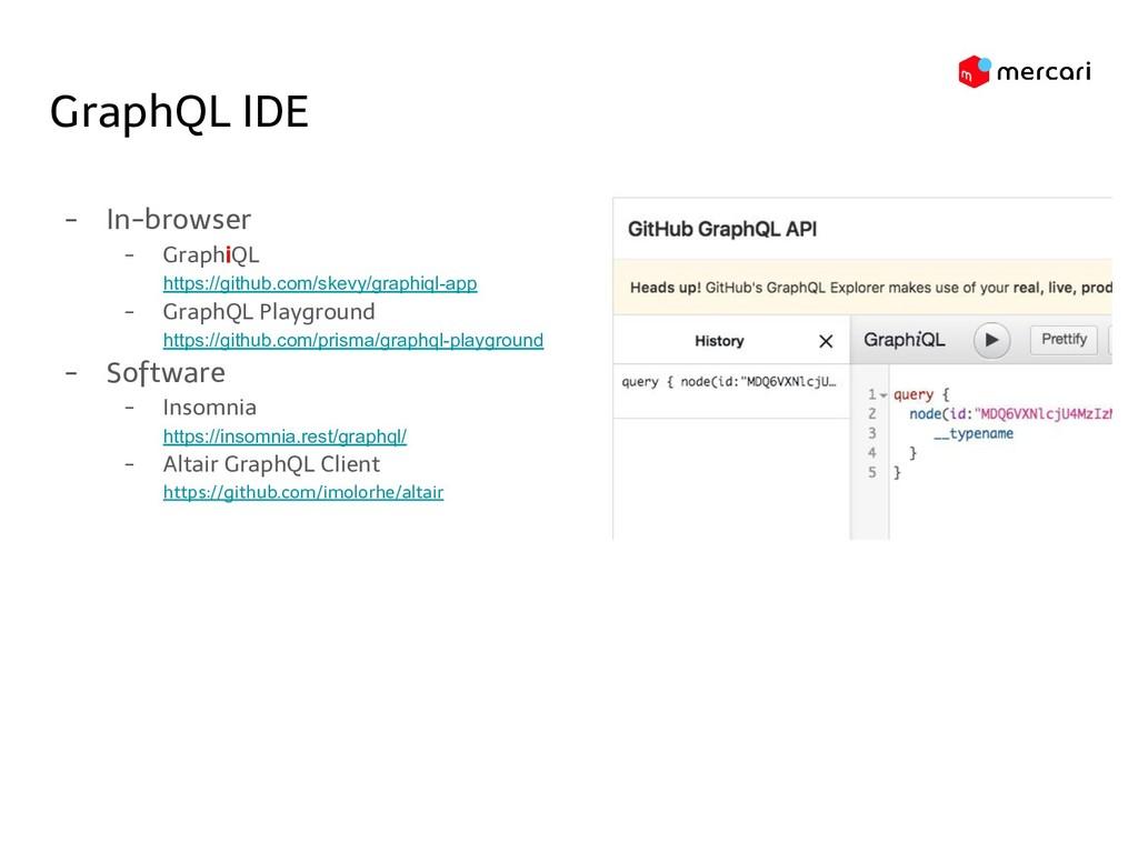 GraphQL IDE - In-browser - GraphiQL https://git...