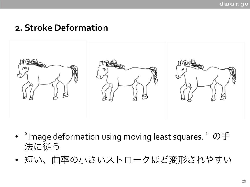 2. Stroke Deformation • lImage deformation us...