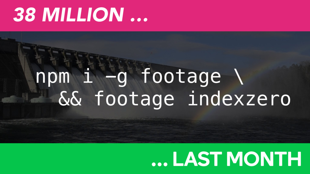 npm i -g footage \ && footage indexzero 38 MILL...