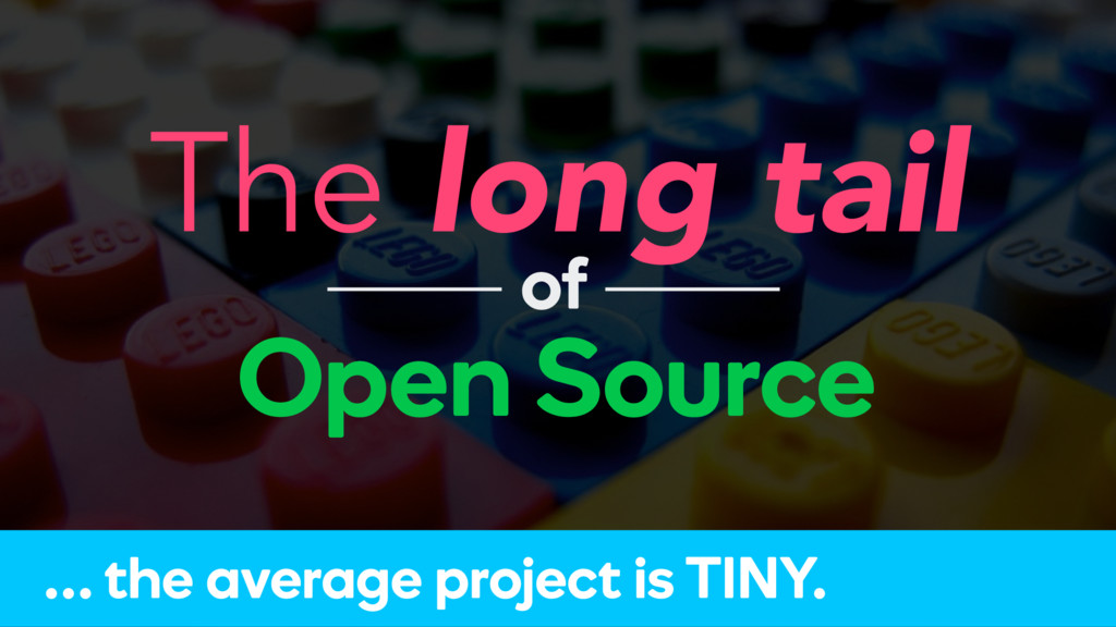 The long tail Open Source of … the average proj...