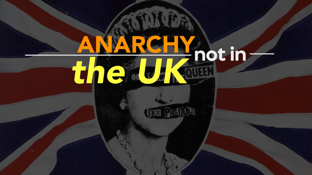 ANARCHY the UK not in