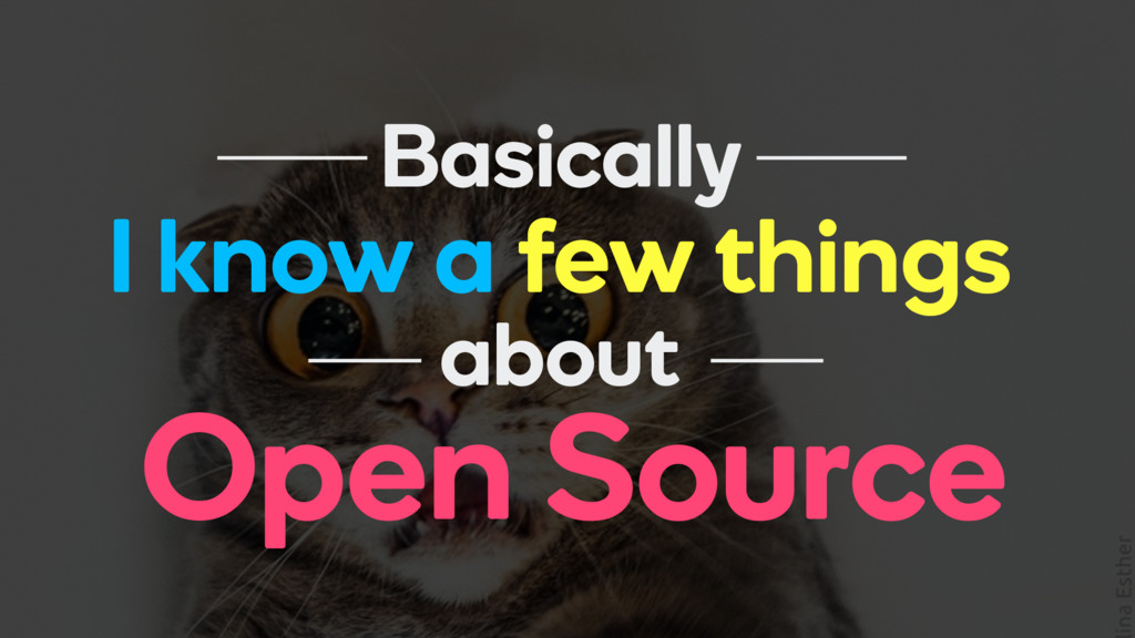 I know a few things Basically Open Source about