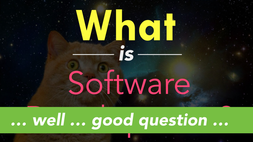 What is Software Development? … well … good que...