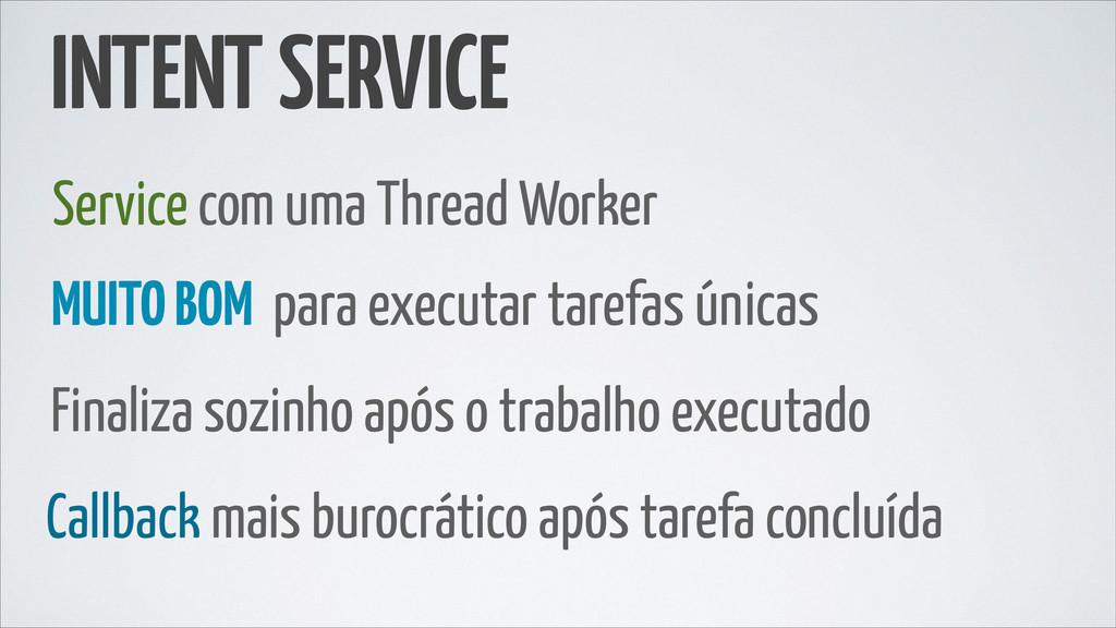 INTENT SERVICE Service com uma Thread Worker MU...