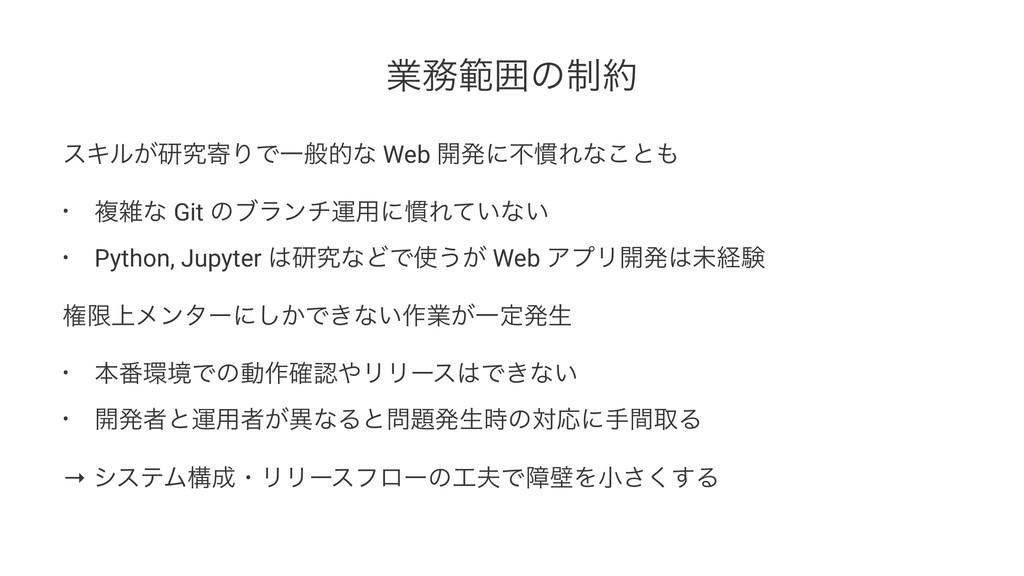 ۀൣғͷ੍ εΩϧ͕ݚڀدΓͰҰൠతͳ Web ։ൃʹෆ׳Εͳ͜ͱ • ෳͳ Git ...