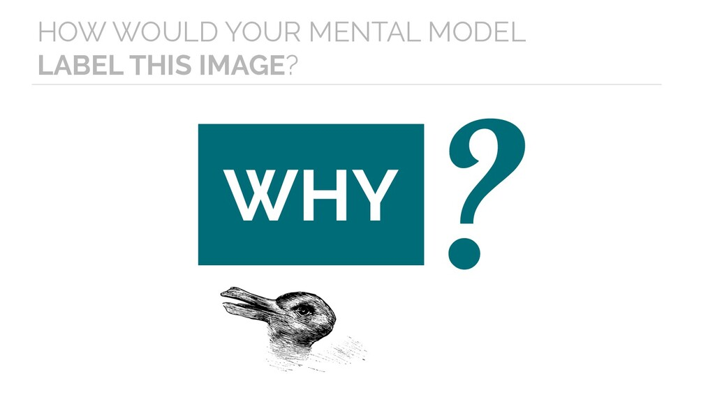 WHY ? HOW WOULD YOUR MENTAL MODEL LABEL THIS IM...