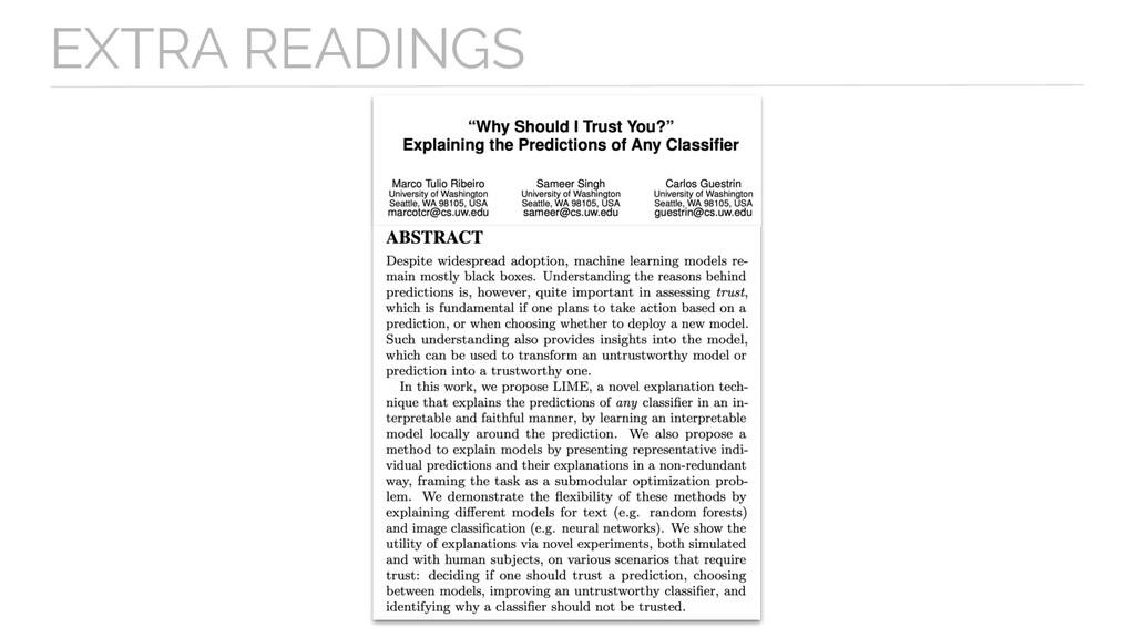 EXTRA READINGS