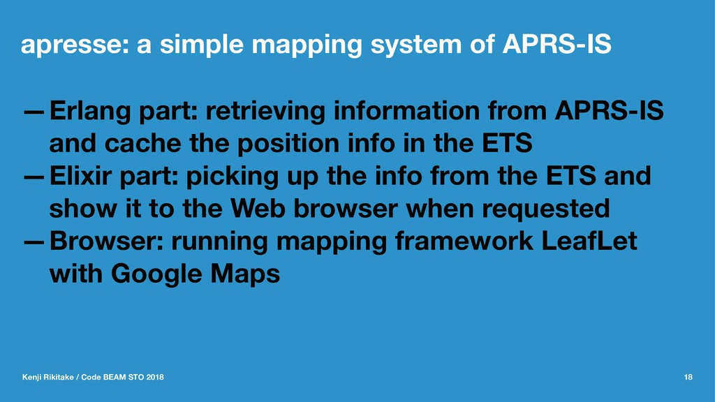 apresse: a simple mapping system of APRS-IS —Er...