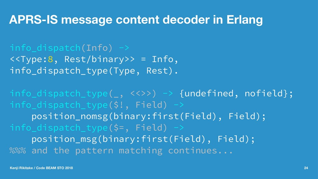 APRS-IS message content decoder in Erlang info_...