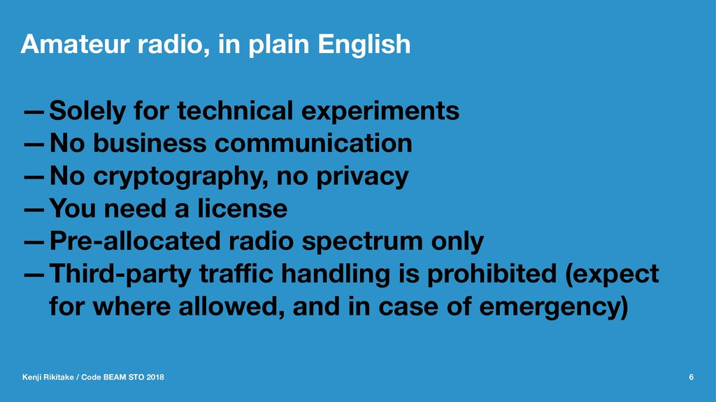 Amateur radio, in plain English —Solely for tec...
