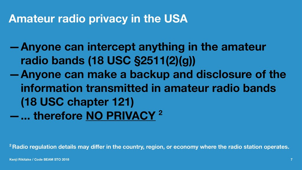 Amateur radio privacy in the USA —Anyone can in...