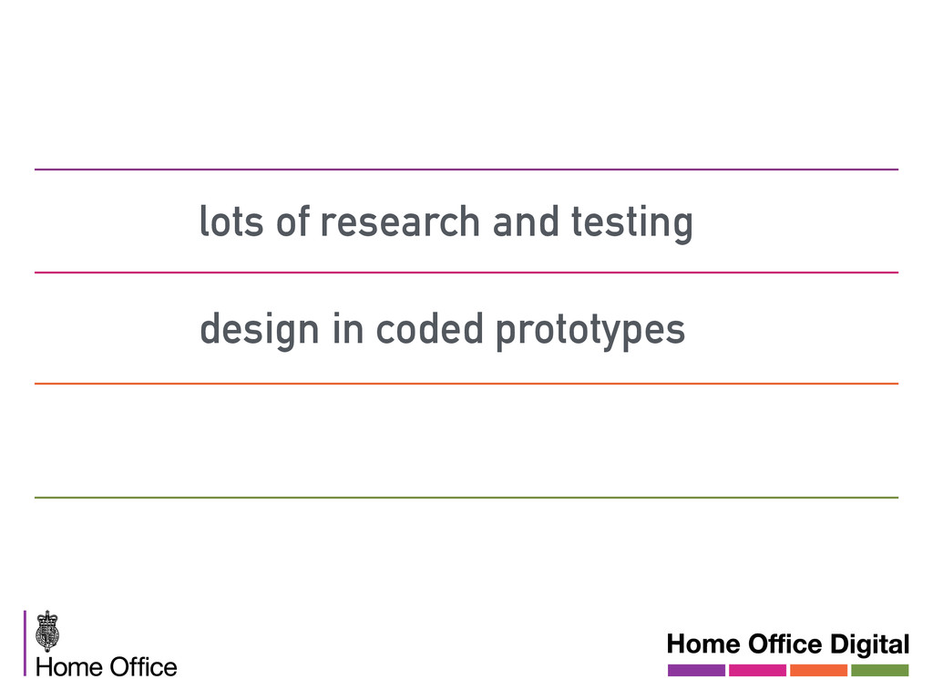 lots of research and testing design in coded pr...