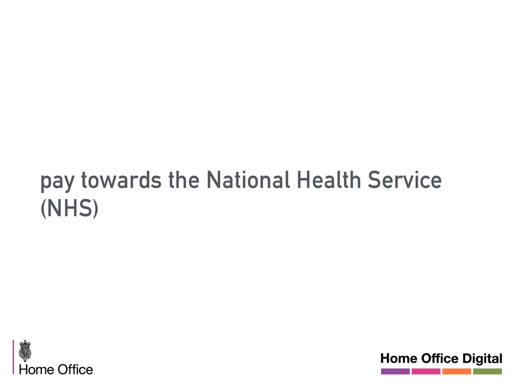 pay towards the National Health Service (NHS)