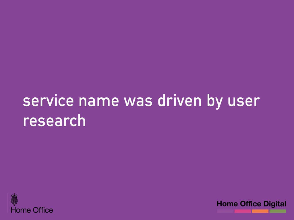 service name was driven by user research