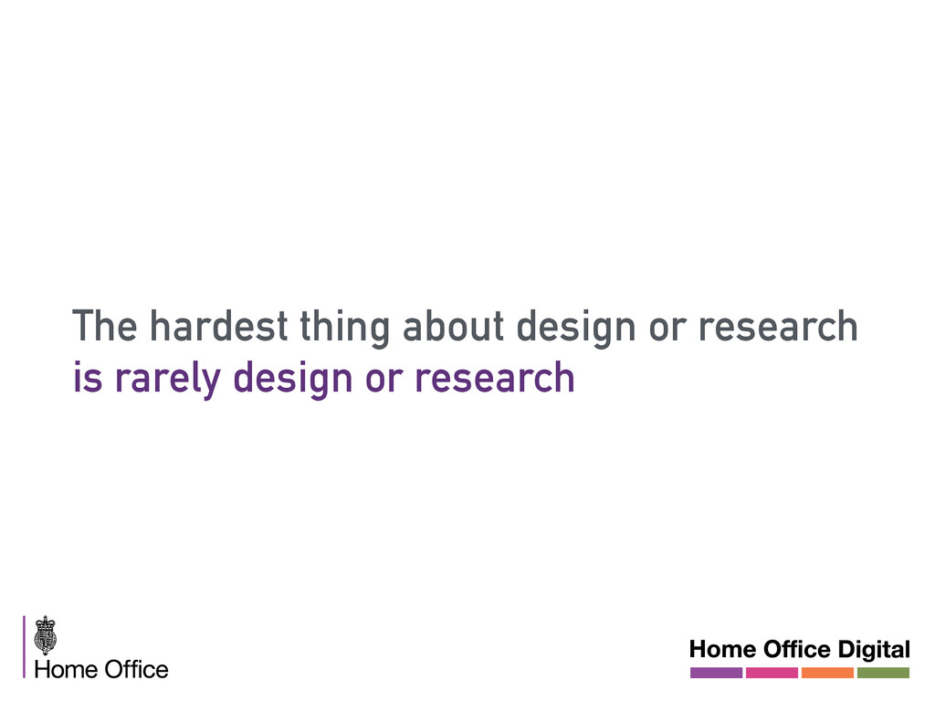 The hardest thing about design or research is r...