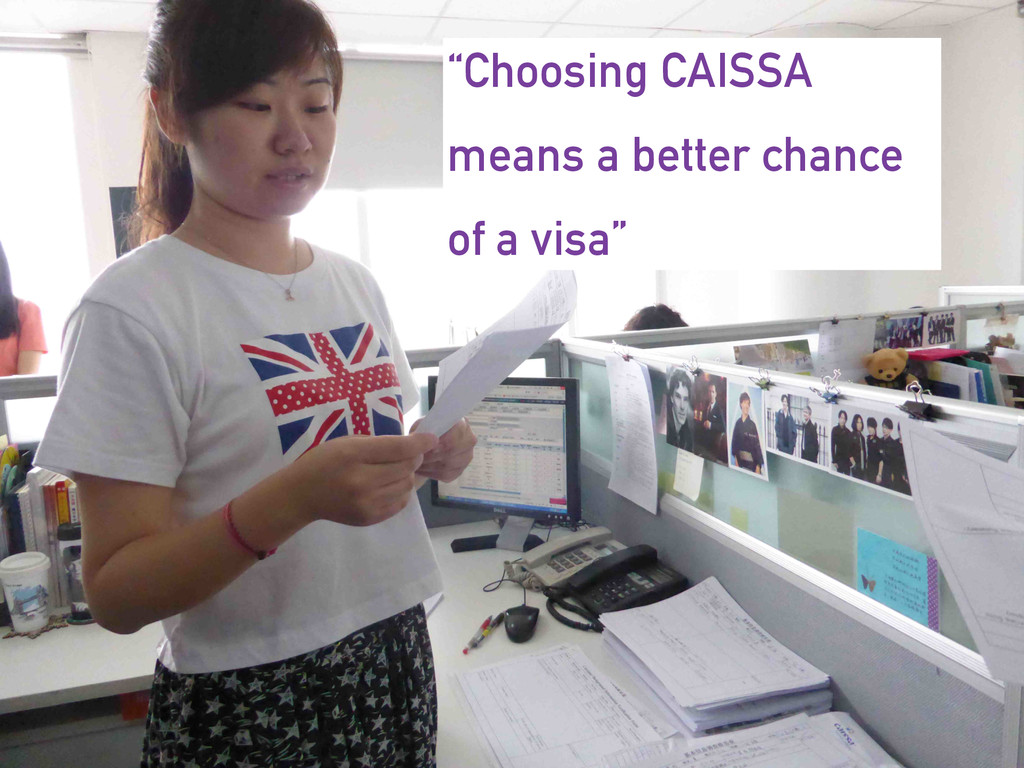"""Choosing CAISSA means a better chance of a vis..."