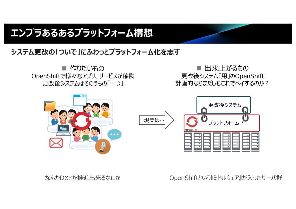 エンプラあるあるプラットフォーム構想 システム更改の「ついで」にふわっとプラットフォーム化を志...