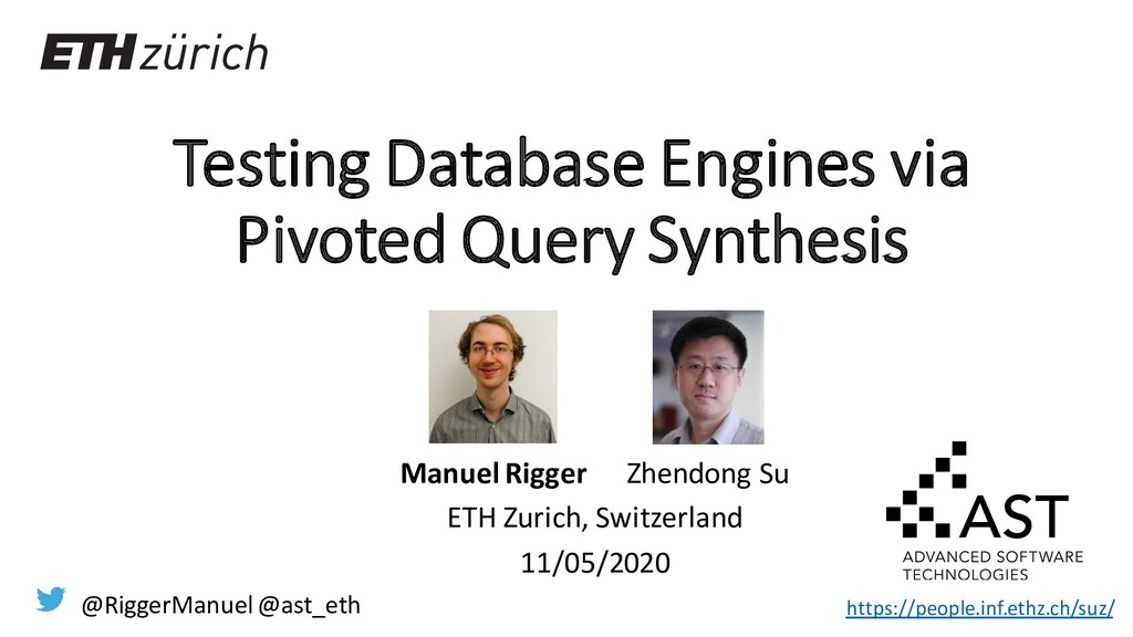 Testing Database Engines via Pivoted Query Synt...