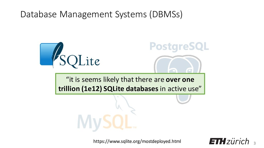 3 Database Management Systems (DBMSs) PostgreSQ...