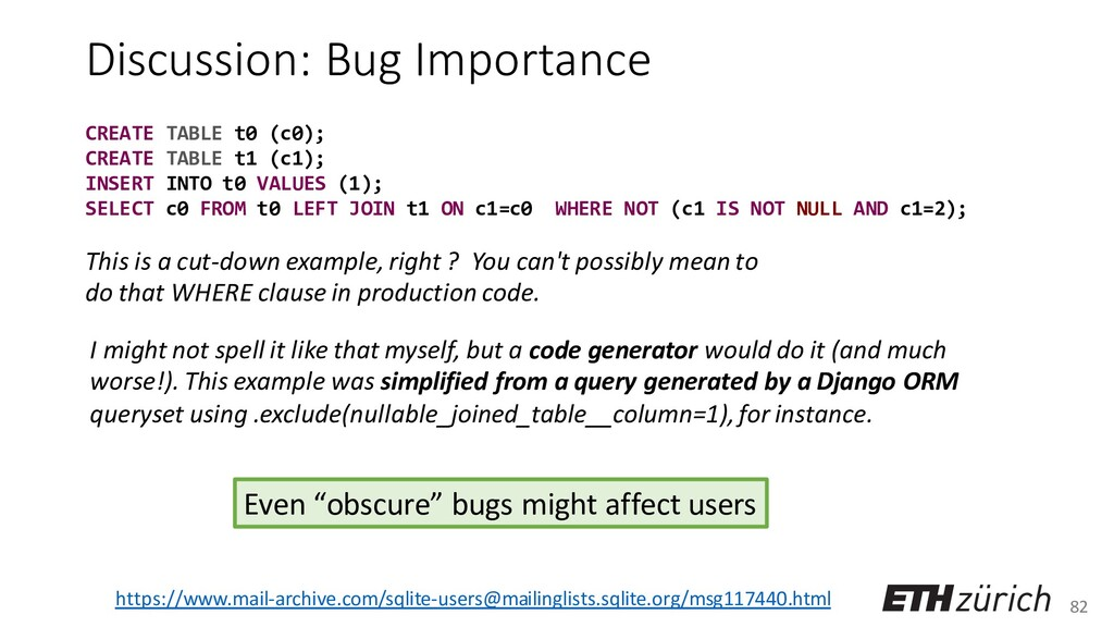 82 Discussion: Bug Importance I might not spell...
