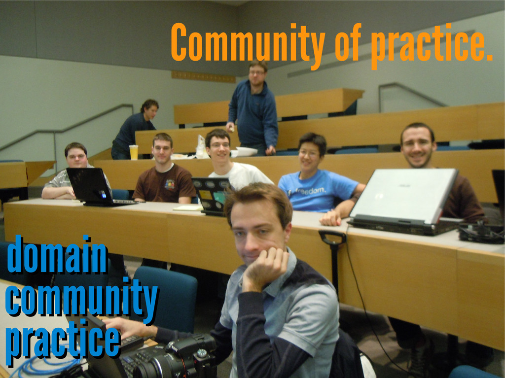 Community of practice. domain domain community ...