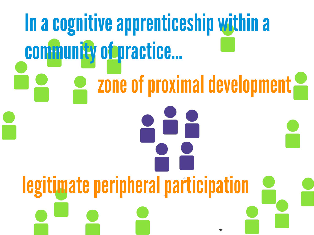 In a cognitive apprenticeship within a communit...