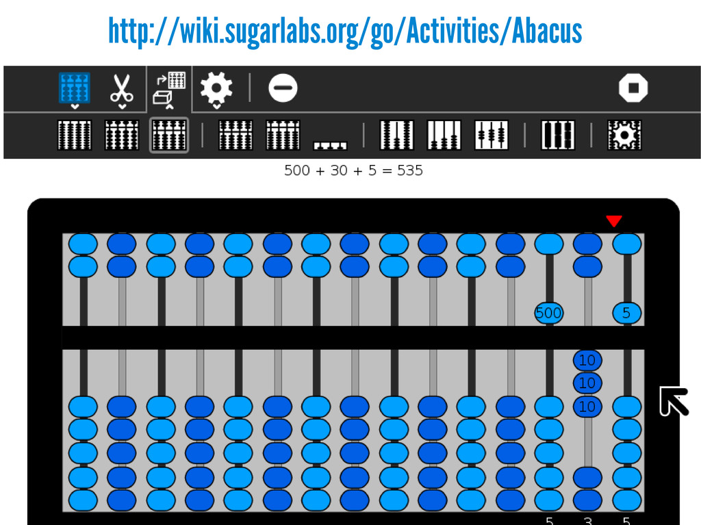 http://wiki.sugarlabs.org/go/Activities/Abacus