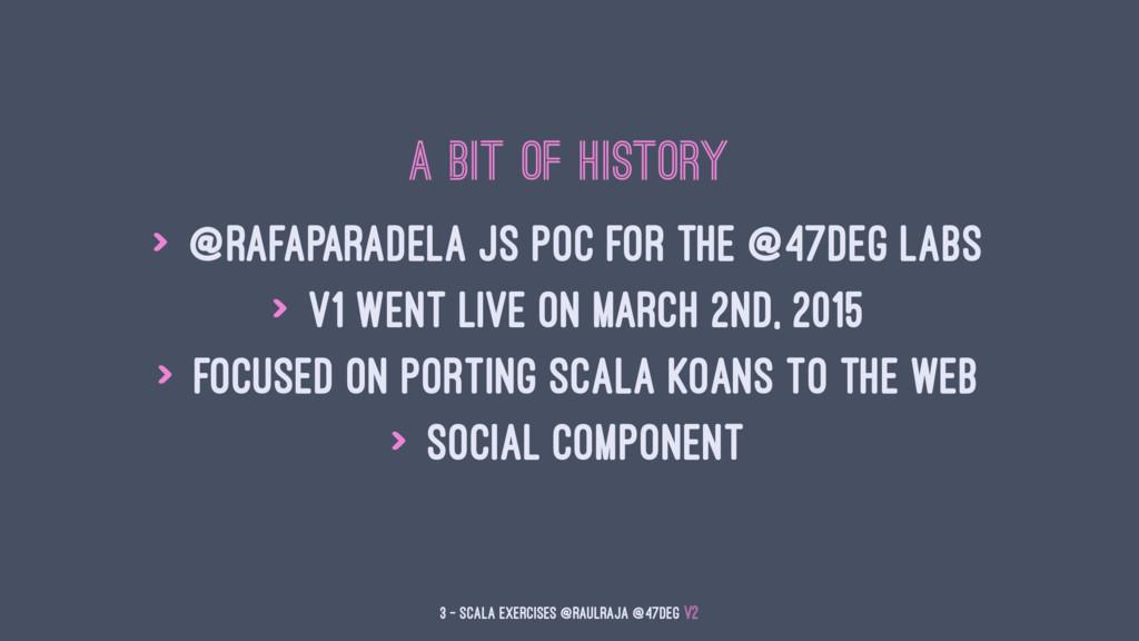 A bit of History > @rafaparadela JS POC for the...