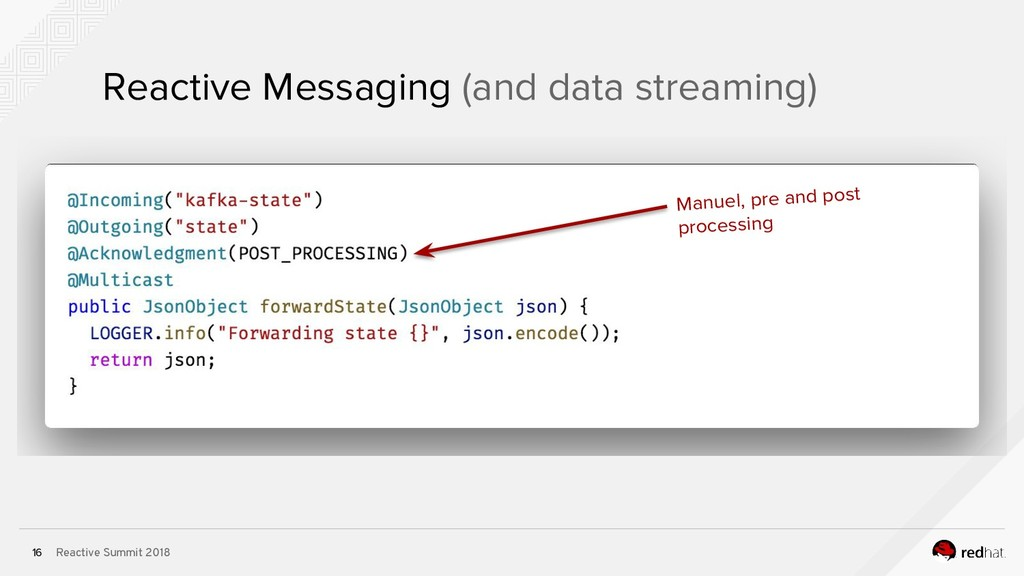 Reactive Summit 2018 16 Reactive Messaging (and...
