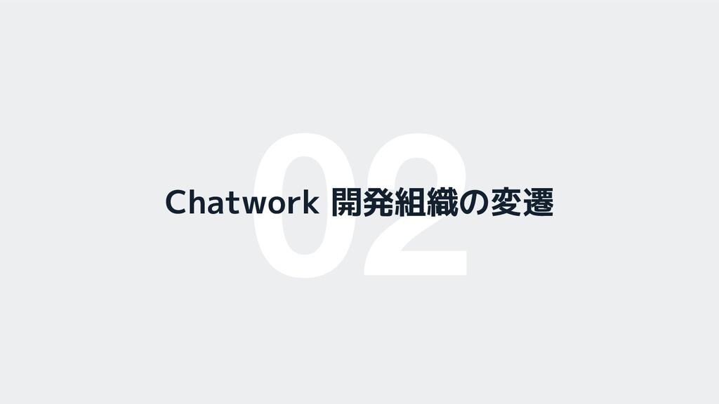 02 Chatwork 開発組織の変遷