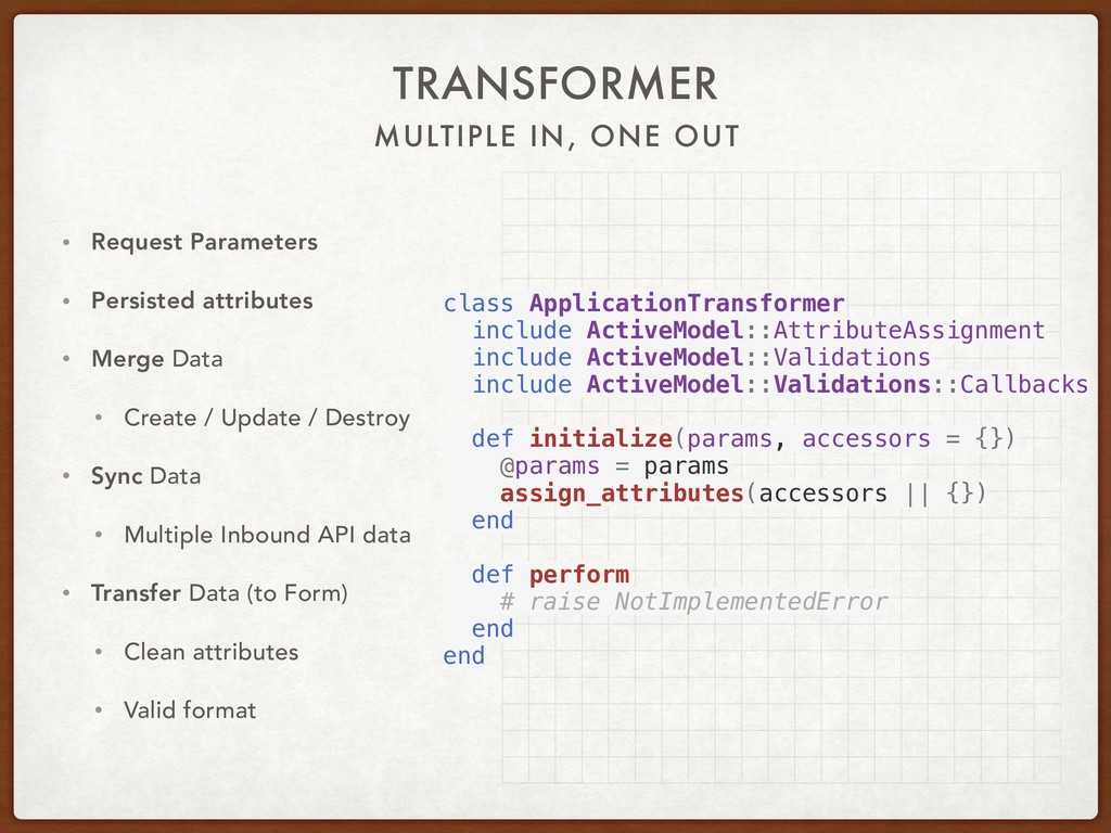 MULTIPLE IN, ONE OUT TRANSFORMER • Request Para...