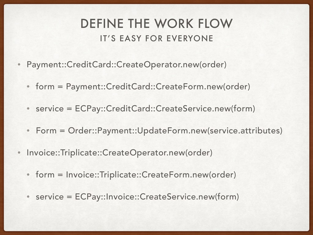 IT'S EASY FOR EVERYONE DEFINE THE WORK FLOW • P...