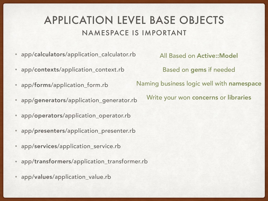 NAMESPACE IS IMPORTANT APPLICATION LEVEL BASE O...